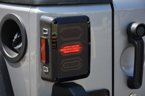 DV8 Offroad Octagon LED Tail Light- Pair (Wrangler JK 2007-2018)
