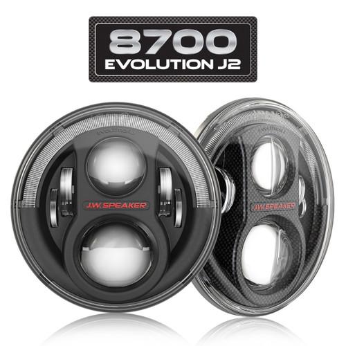 JW Speaker 0553973 Model 8700 J2 Series Headlight Pair for Jeep Wrangler JK, JL & Gladiator JT