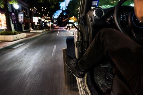 KikBax Offroad Foot Pegs with Mirror (Wrangler JK 2007-2018)