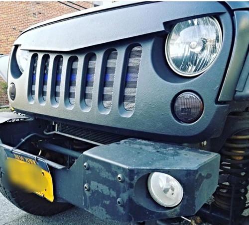 Under The Sun Inserts UTS-TBL Thin Blue Line American Flag Insert for Jeep Wrangler JK 2007-2017