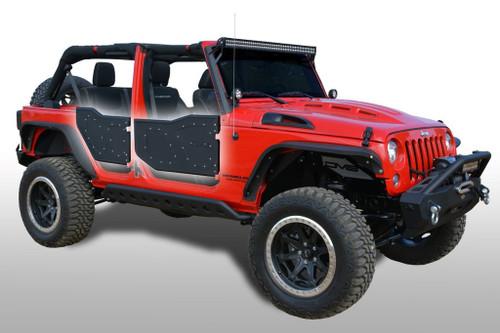 DV8 Offroad RDSTTB-01 Plated Rock Doors for Jeep Wrangler JK 4 Door 2007-2018