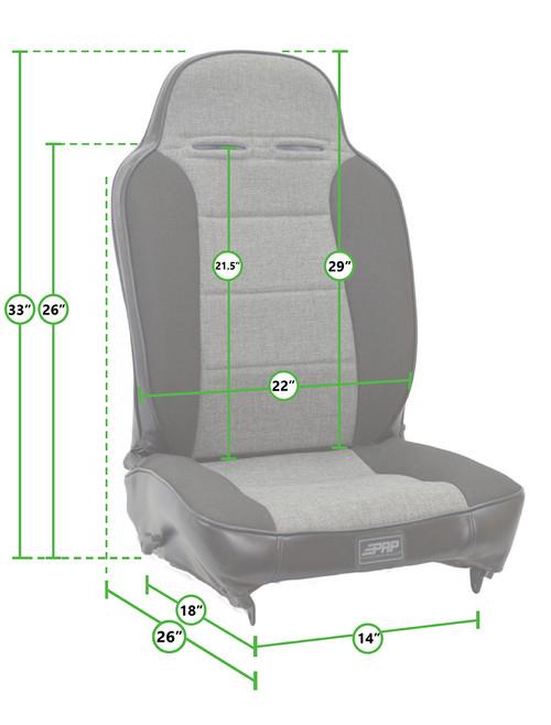 PRP Seats A13 Enduro Recliner High Back