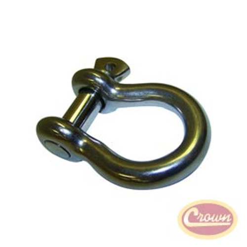 "Crown Automotive D-Ring Shackle w/ 3/4"" Bolt- Galvanized Steel"
