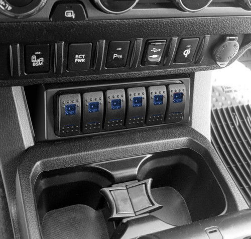 S-TECH Switch Systems STC-6SW 6 Switch System for Jeep Wrangler, Toyota Tacoma, Toyota 4 Runner and Dodge Ram