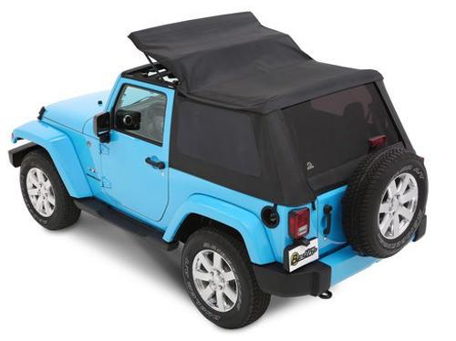 Bestop 56852-35 All New TrekTop Soft Top in Black Diamond for Jeep Wrangler JK 2 Door 2007-2018