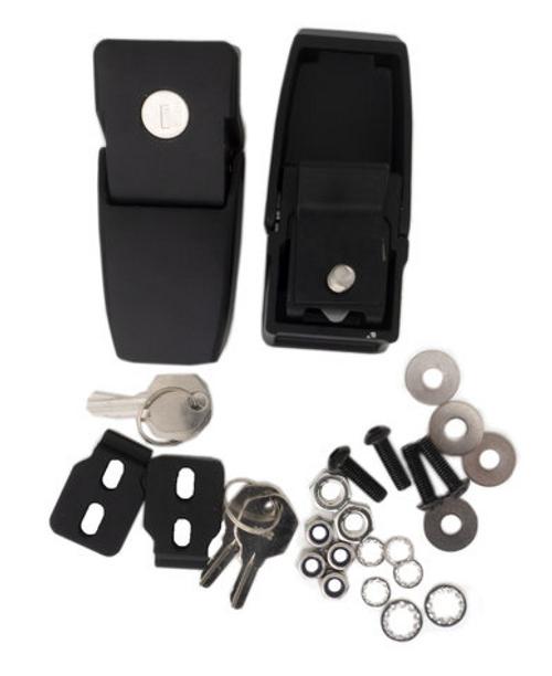 Rampage Products 76336 Locking Hood Catch Black Jk