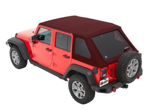 Bestop All New TrekTop Soft Top for Jeep Wrangler JK 4 Door 2007-2018