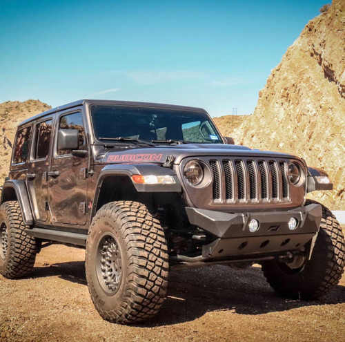 Motobilt MB1094 Hammer Series Front Bumper with Skid Plate for Jeep Wrangler JL 2018+