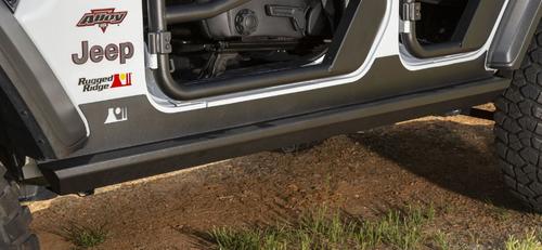 Rugged Ridge 11504.32 XHD Rock Sliders for Jeep Wrangler JL 4 Door 2018+
