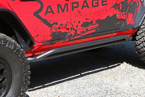 Rampage Products 26631 SRS Rail Side Rocker Guards for Jeep Wrangler JL 4 Door 2018+