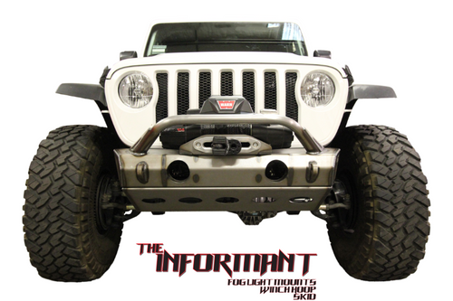 VKS Fabrication The Informant Front Bumper Lower Skid Plate for Jeep Wrangler JL 2018+