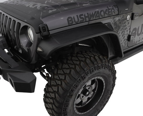 Bushwacker 10923-07 Flat Style Fender Flares for Jeep Wrangler JL 2018+