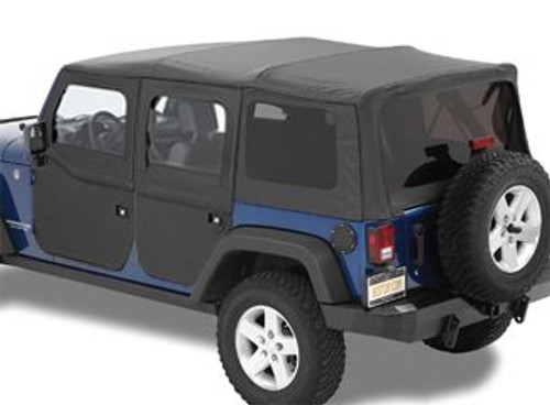 Bestop 2 Piece Front Doors in Black Diamond (Wrangler JK 2007-2018)