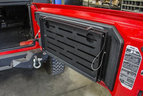 DV8 Offroad TTJL-01 Folding Tailgate Table for Jeep Wrangler JL 2018+