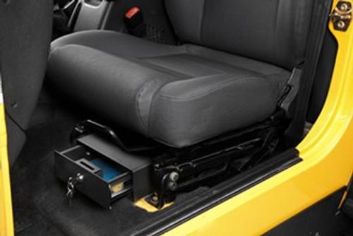 Bestop Under Seat Locking Storage Box- Driver Side (Wrangler JK 2007-2018)