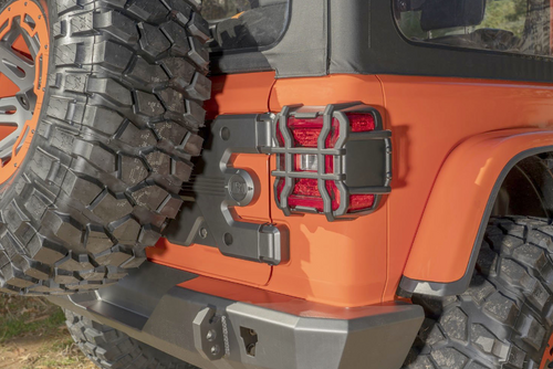 Rugged Ridge 11226.12 Elite Tail Light Guards for Factory LED for Jeep Wrangler JL 2018+