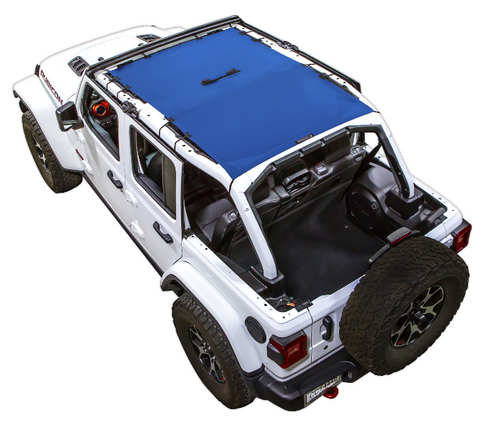 SpiderWebShade Shadetop in Blue for Jeep Wrangler JL 4 Door Unlimited 2018+