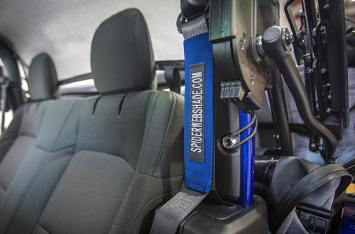 SpiderWebShade SWS-SBSLNR-01JL2D Seatbelt Silencer for Jeep Wrangler JL 2 Door 2018+