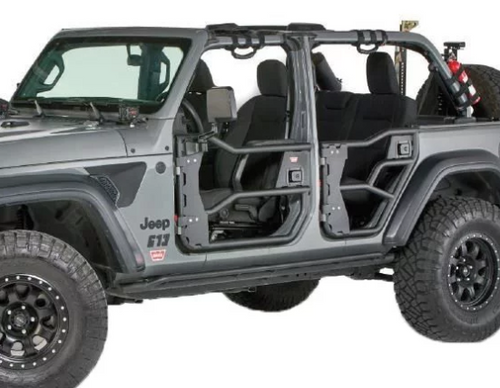WARN 103101 Elite Front Tube Doors for Jeep Wrangler JL & Gladiator JT 2018+