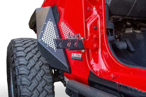 DV8 Offroad STJL-02 Hinge Mounted Foot Pegs for Jeep Wrangler JK & JL & Gladiator JT 2007+