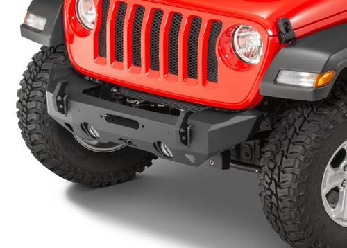 Rugged Ridge 11540.32 HD Stubby Front Bumper for Jeep Wrangler JK, JL & Gladiator JT 2007+