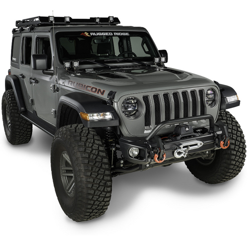 Rugged Ridge 11549.05 Arcus Front Stubby Bumper for Jeep Wrangler JL & Gladiator JT 2018+