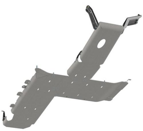 Artec JL4101 Full Bellypan Skid in Aluminum for Jeep Wrangler JL 4 Door 3.6L 2018+