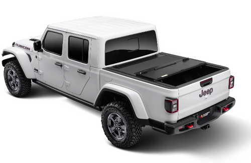 Rugged Ridge 13550.24 Armis Hard Folding Bed Cover with LINE-X for Jeep Gladiator JT 2020+
