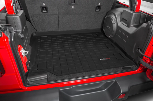 WeatherTech 401107 Rear Cargo Liner in Black for Jeep Wrangler JL 4 Door with Leather Seats 2018+
