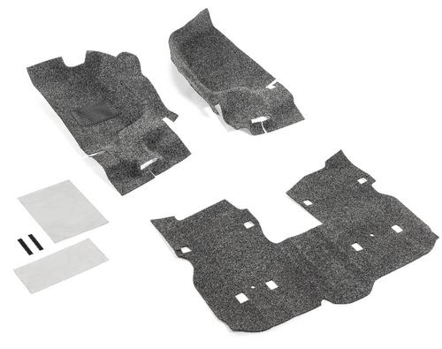 Bedrug BRJL18F4 Premium Carpeted 3 Piece Front Floor Kit for Jeep Wrangler JL 4 Door 2018+