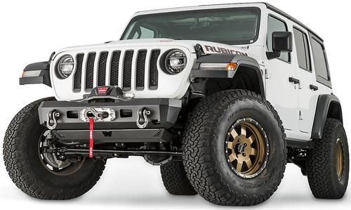 WARN 101325 Elite Series Stubby Front Bumper for Jeep Wrangler JL & Gladiator JT 2018+