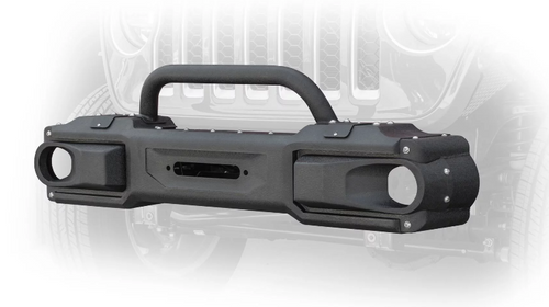 DV8 Offroad FBJL-10 Front Modular Bumper with Bull Bar for Jeep Wrangler JL & Gladiator JT 2018+