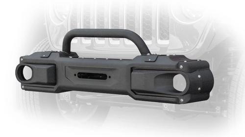 DV8 Offroad FBJL-10 Front Modular Bumper with Bull Bar for Jeep Wrangler JL & Gladiator JT 2018+