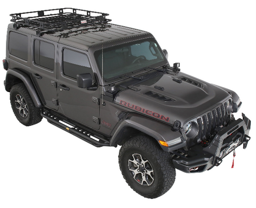 Smittybilt 45454JL Defender One-Piece Roof Rack for Jeep Wrangler JL 4 Door and Gladiator JT 2018+