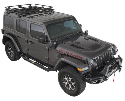 Smittybilt 45454JL Defender One-Piece Roof Rack for Jeep Wrangler JL 4 Door and Gladiator JT 2018+