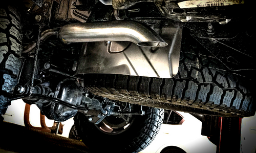 MBRP S5537AL Installer Series Aluminized Single Rear Exhaust for Jeep Gladiator JT 2020+