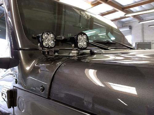 Baja Designs 447007 Cowl/Dual A-Pillar Light Mounting Pair for Jeep Wrangler JL & Gladiator JT 2018+