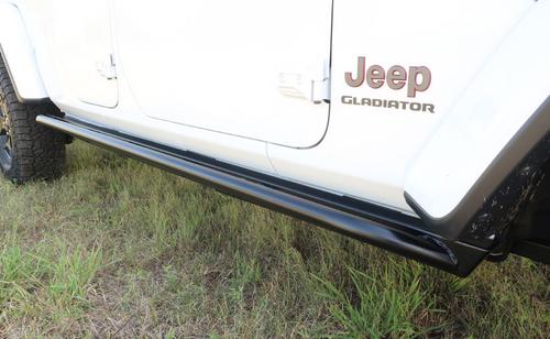 Rock Hard 4x4 RH-80104 Patriot Series Tube Slider Rocker Guards Angled Up for Jeep Gladiator JT 2020+