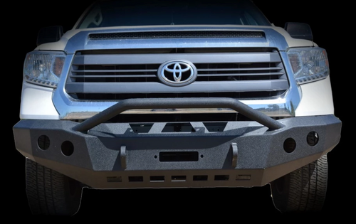 DV8 Offroad FBTT2-01 Front Bumper with Bull Bar for Toyota Tundra 2014-2016