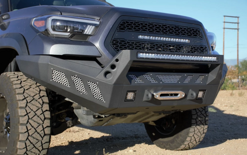 DV8 Offroad FBTT1-03 Front Full Width Bumper for Toyota Tacoma 2016+