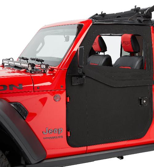 Bestop 51750-35 2-Piece Front Fabric Doors in Black Diamond for Jeep Wrangler JL 2018+