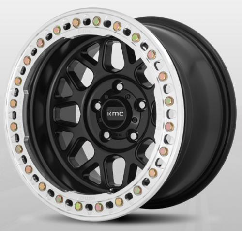 KMC Wheels KM23579050738N Grenade Crawl Beadlock in Satin Black 17x9