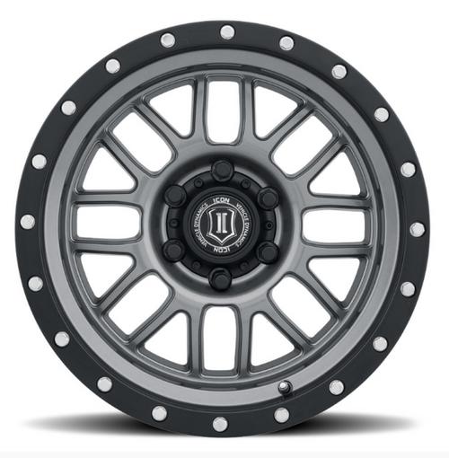 ICON Vehicle Dynamics 1217857347GM Alpha Wheel 17x8.5 5x5 in Gunmetal