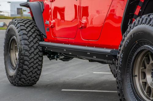 DV8 Offroad SRGL-02 Bolt-On Side Step Sliders for Jeep Gladiator JT 2020+