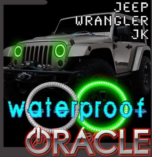 Oracle Lighting 3943-001 Waterproof LED Headlight Halo Kit in White for Jeep Wrangler JK 2007-2018