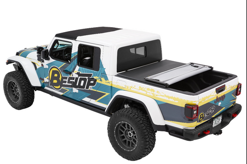 Bestop 16280-35 EZ-Fold Tri-Fol Soft Tonneau Cover for Jeep Gladiator JT 2020+