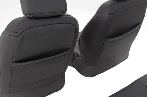 Rough Country 91007 Front & Rear Seat Covers for 2013-2018 Jeep Wrangler JK 2 Door