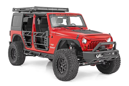 Rough Country 10588 Front & Rear Steel Tube Doors for Jeep Wrangler JK 4 Door 2007-2018