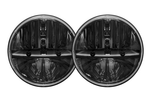 """Rigid Industries 55001 Truck-Lite 7"""" Round LED Headlight Pair with H13 to H4 Adapters for Jeep Wrangler JK 2007-2018"""