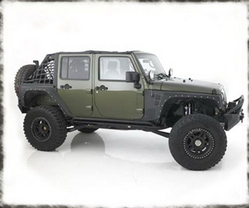 Smittybilt XRC Rear Corner Armor Fender Kit for Jeep JK